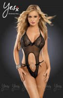 YesX YX218 Thong Back Black Teddy Size S/M