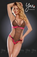 YesX YX203 Sexy Leopard Print & Rose Pink Teddy Size S/M