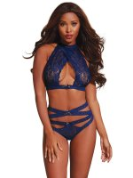 Dreamgirl One Size Midnight Bralette and Panty 10564