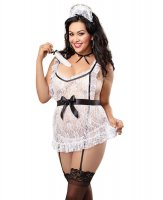Dreamgirl Plus Size Queen 'Maid To Tease'  UK Size 18-24