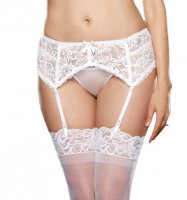 Dreamgirl Plus Size White Sultry Nights Garter Belt 8735X