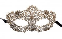 Dreamgirl Gold Majestic Masquerade Lace Eye Mask M10116