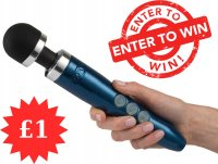 Win Me For £1 Doxy Die Cast 3 Blue Flame Rechargeable Wand Vibrator
