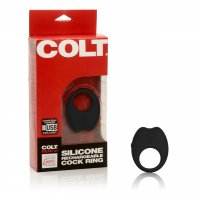 COLT Silicone Rechargeable Cock Ring - Black