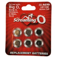 Screaming O Card of 6 x AG10 batteries (LR1130)