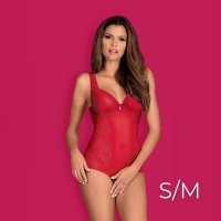 Obsessive Rougebelle Red Crotchless Teddy
