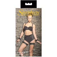 Sportsheets Restraint Thigh & Wrist Cuffs Set