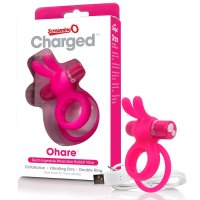 Screaming O Charged Ohare Vibrating Cock Ring- Pink