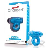 Screaming O Charged OWow Vibrating Cock Ring - Blue