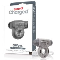 Screaming O Charged OWow Vibrating Cock Ring - Grey
