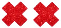 Red Glitter Cross Nipple cover - 1 pair