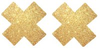 Gold Glitter Cross Nipple cover - 1 pair