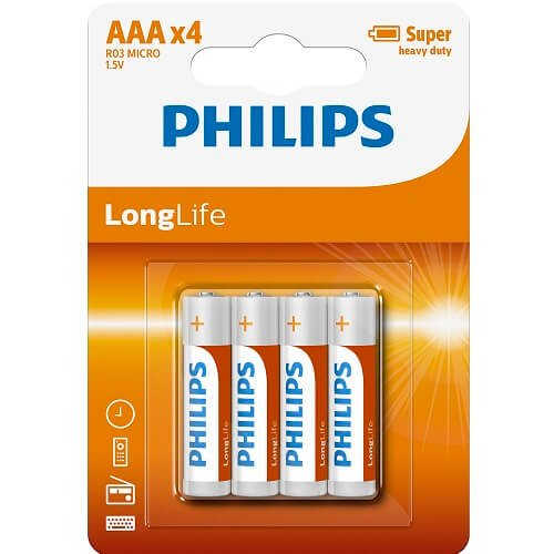 Philips AAA Batteries (4 Pack)